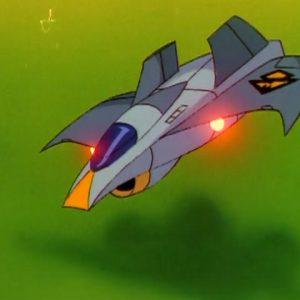 Blue Manx Fighter Jet