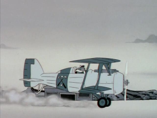 The Blue Manx's Biplane