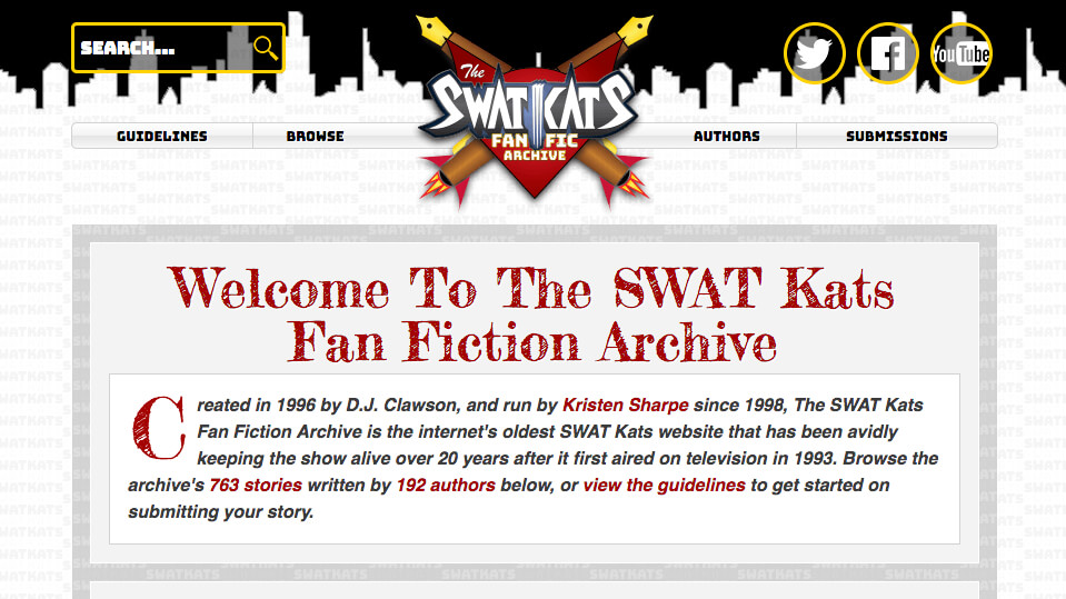 The SWAT Kats Fan Fiction Archive